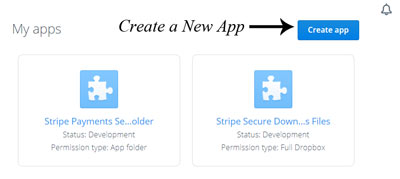 create-new-app-dropbox-stripe-payments