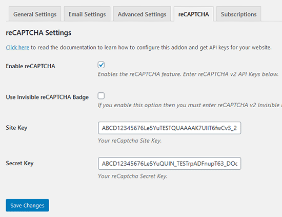 recaptcha-settings-and-configuration-sc